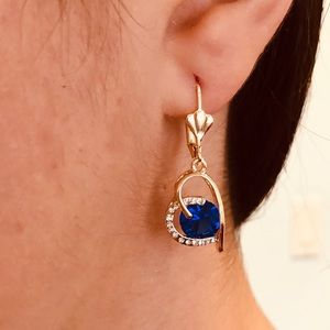 Under $10 Holiday 🎁 Sapphire color Heart Earrings